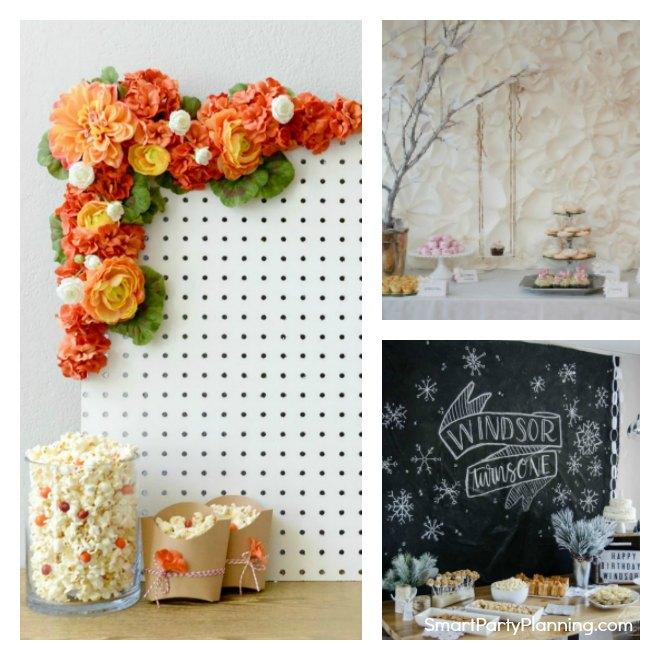 Party Table Backdrop Ideas