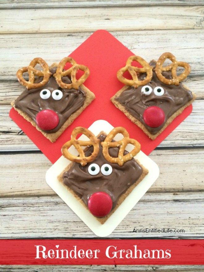 reindeer grahams cookie