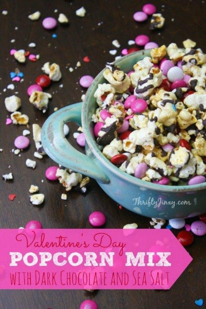 Valentines Day Chocolate Popcorn