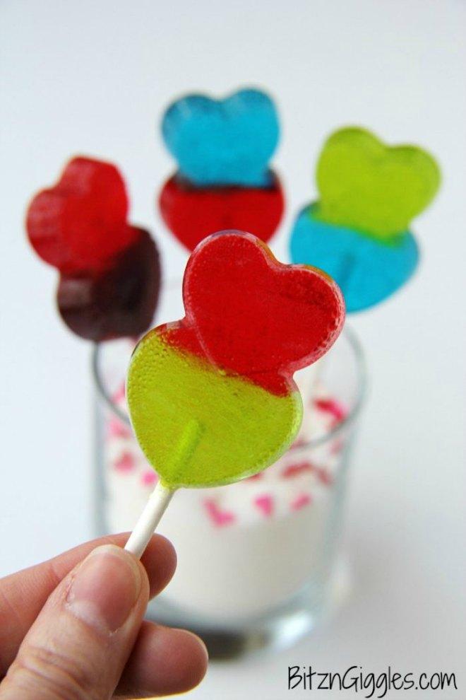 Valentines day lollipops