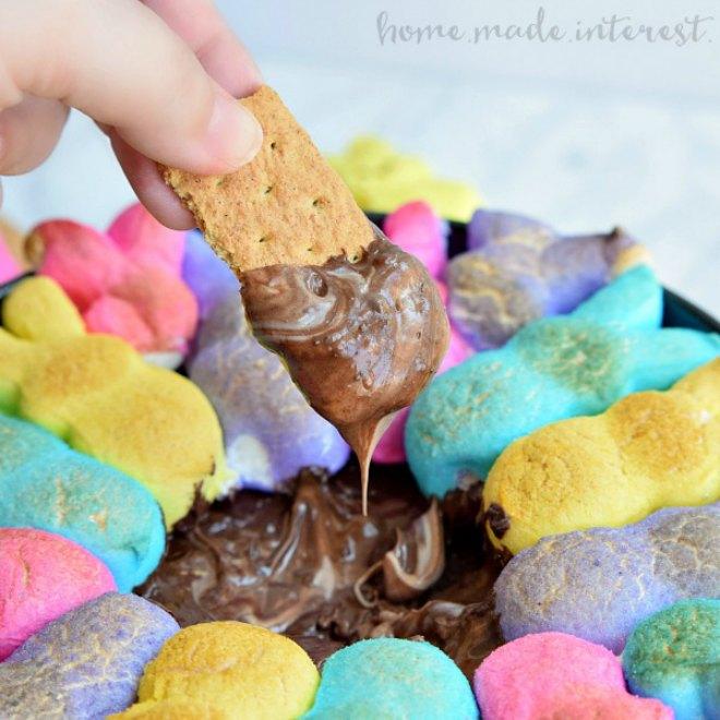 Easter peeps Smores Dip