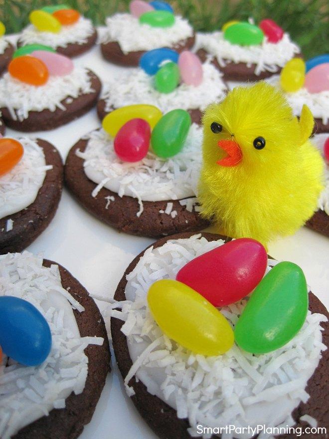 Birds Nest Cookies With Coconut