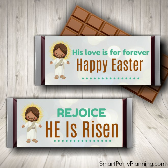 Easter candy bar favors