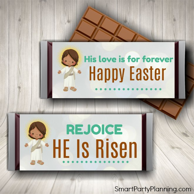 Easter candy bar wrappers for kids