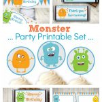 Monster Party Printables Set