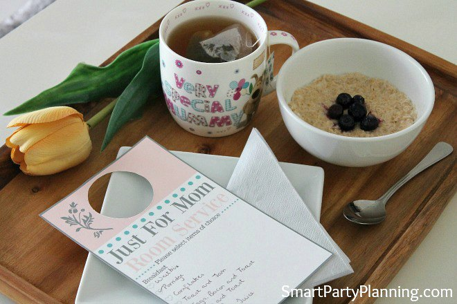 Mothers day breakfast tray