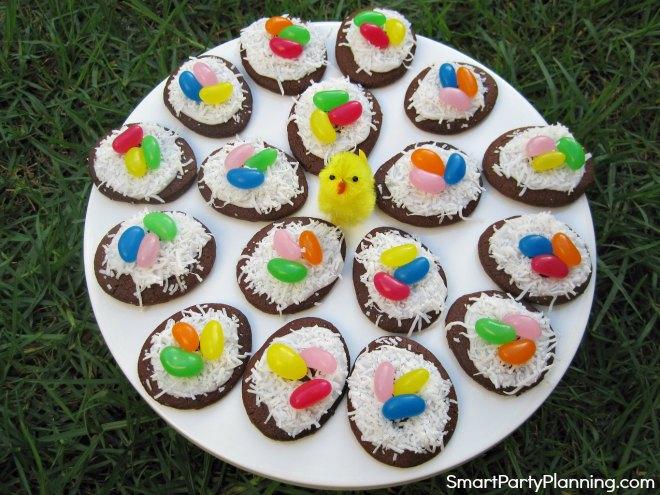 Plate of Birds Nest Cookies