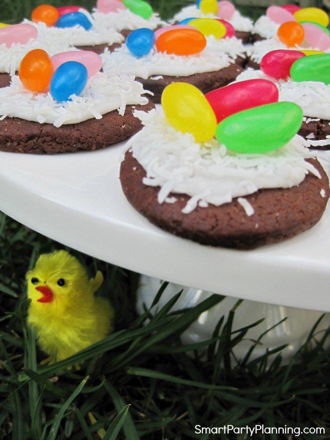 Plate of easy birds nest cookies
