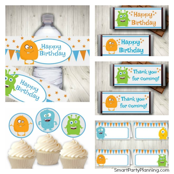 Friendly Monster Party Printables