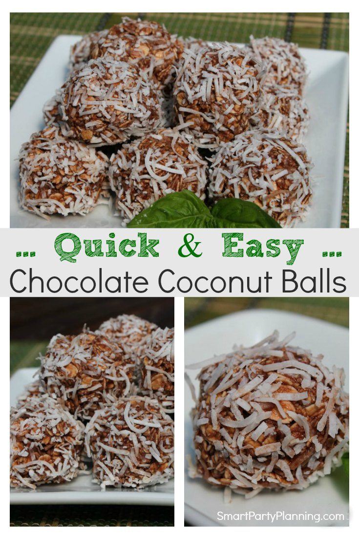Quick and easy chocolate coconut balls