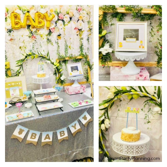Elegant floral baby shower