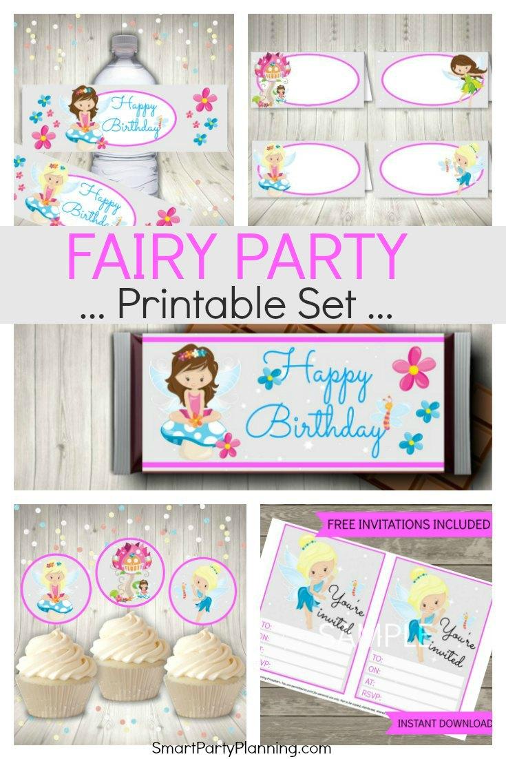 Fairy Party Printable Set