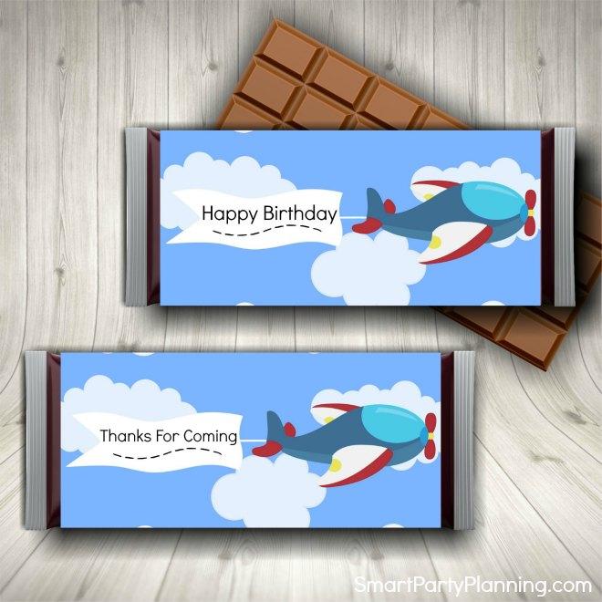 Printable Airplane Cupcake Toppers