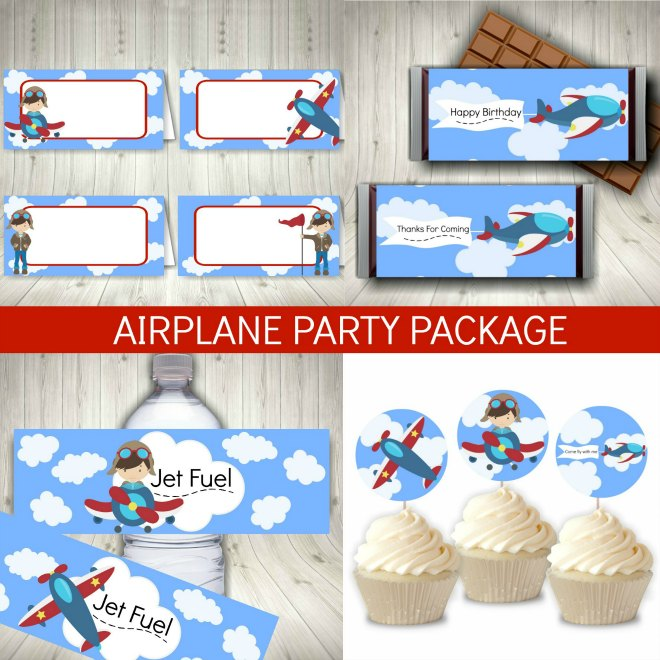 Printable Airplane Party Package