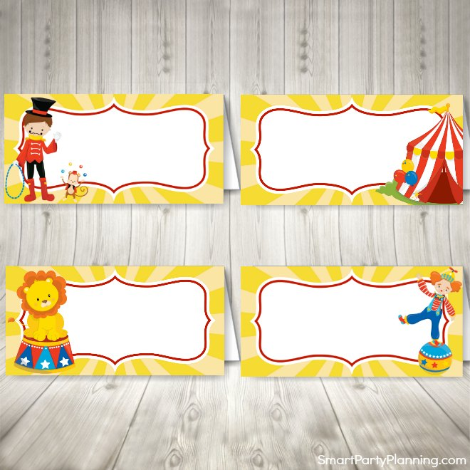 Circus Party Food Tents