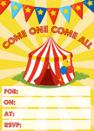 Circus Party Invitation free