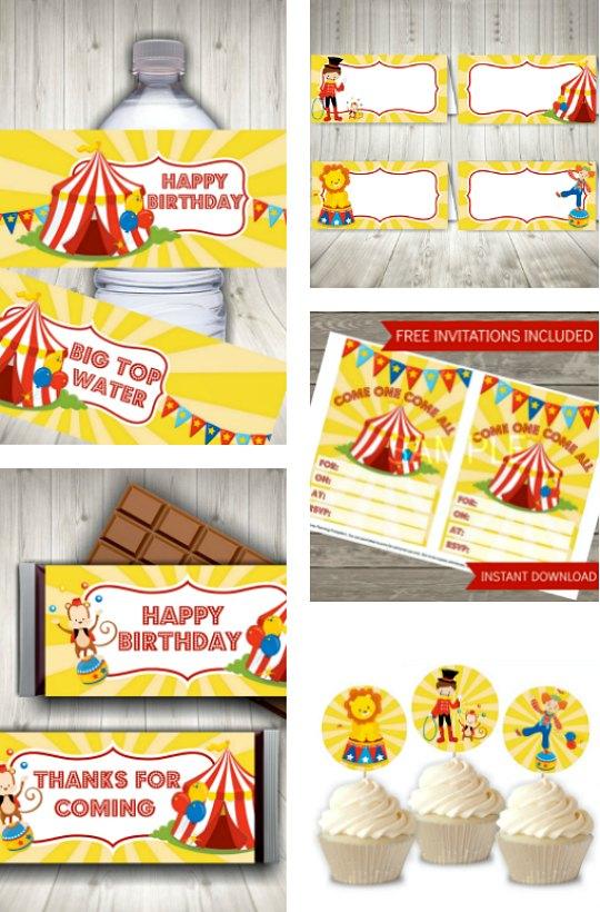 Circus Party Printable Set