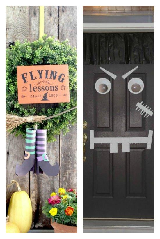 14 easy Halloween front door ideas