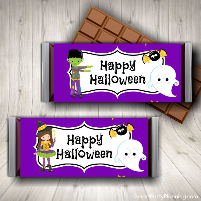 Cute Halloween Candy Bar Wrappers