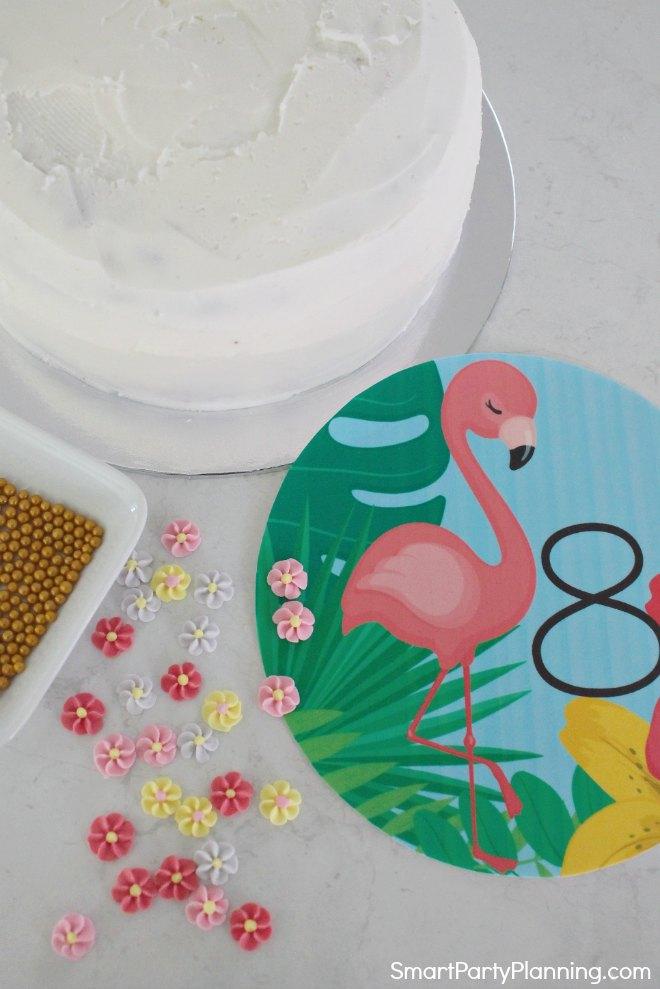 Flamingo Cake Topper Decorations