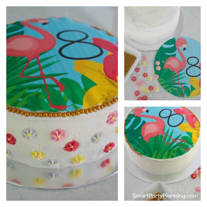 how to make a simple flamingo birthday cake
