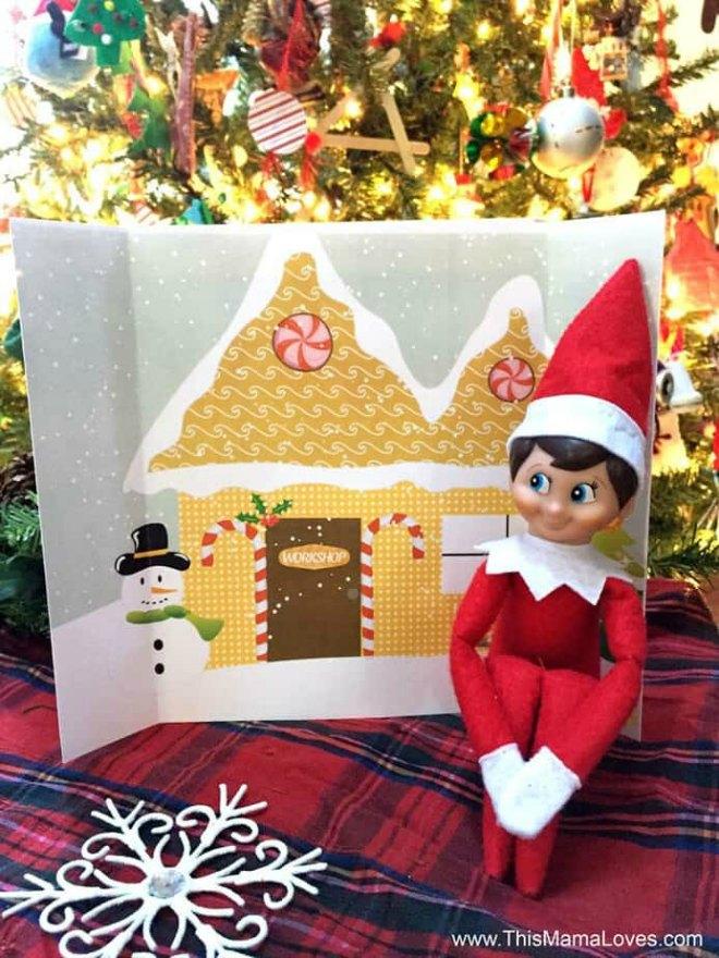 Elf on the shelf backdrop