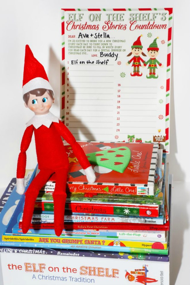 Elf on the shelf Christmas book list