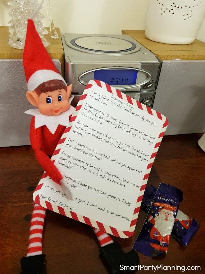 Elf on the shelf departure letter