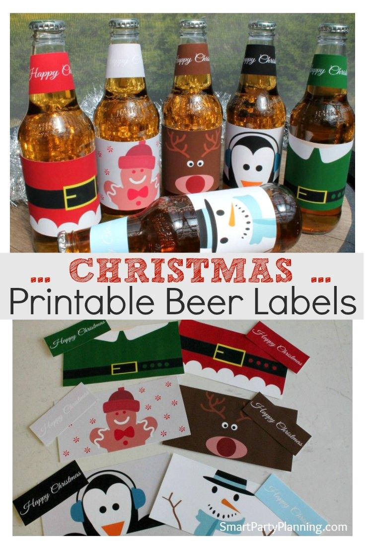Printable Christmas Beer Labels