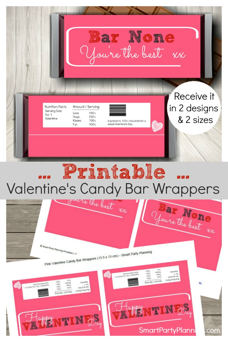Printable Valentines Candy Bar Wrappers