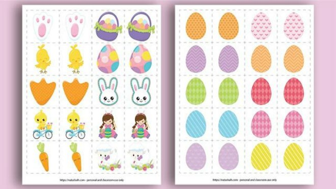 Easter matching game