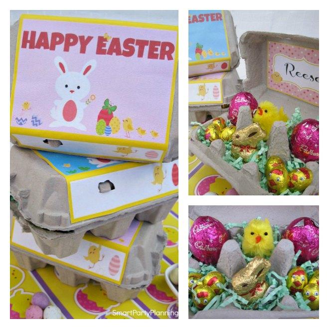 Easter egg carton craft
