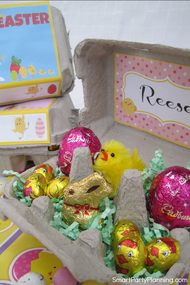 Egg carton printables to make an Easter gift