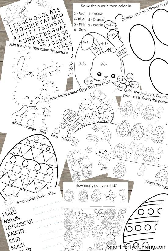 Fun Kids Easter Activity Printable Pack