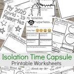 Isolation time capsule printable worksheets