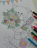 mothers day coloring page 150 x 190