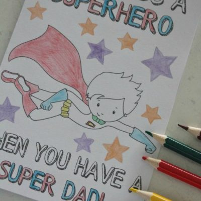 Free Superhero Father's Day Cards He Will Love