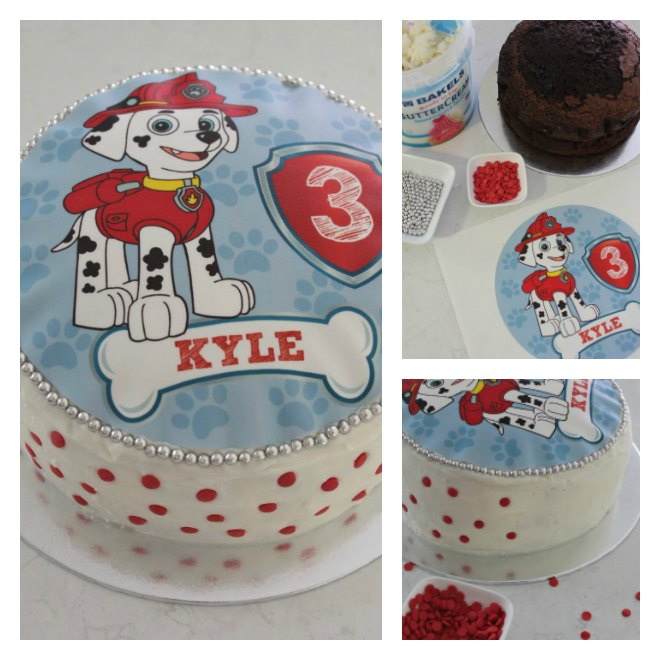 How to make a simple Paw Patrol cake
