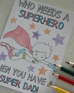 Superhero cards for dad