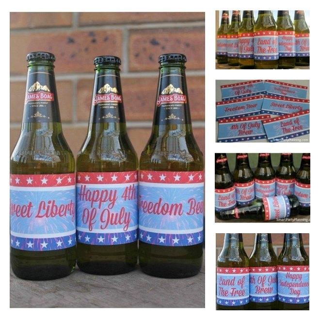 Printable 4th of July beer labels