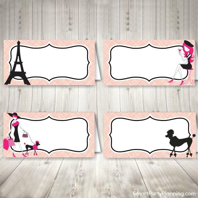 Paris buffet labels