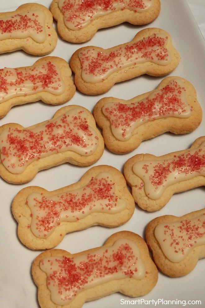 Bone shaped cookies