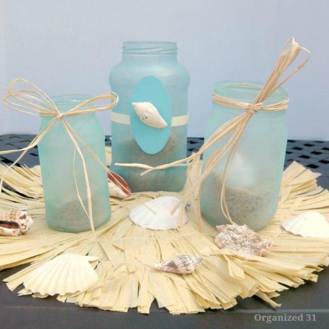 DIY Beach Glass Lanterns