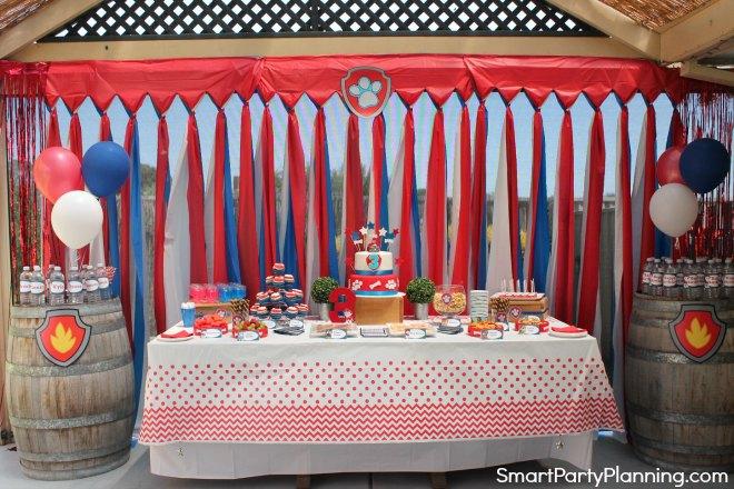 Paw Patrol Birthday Party Set Up