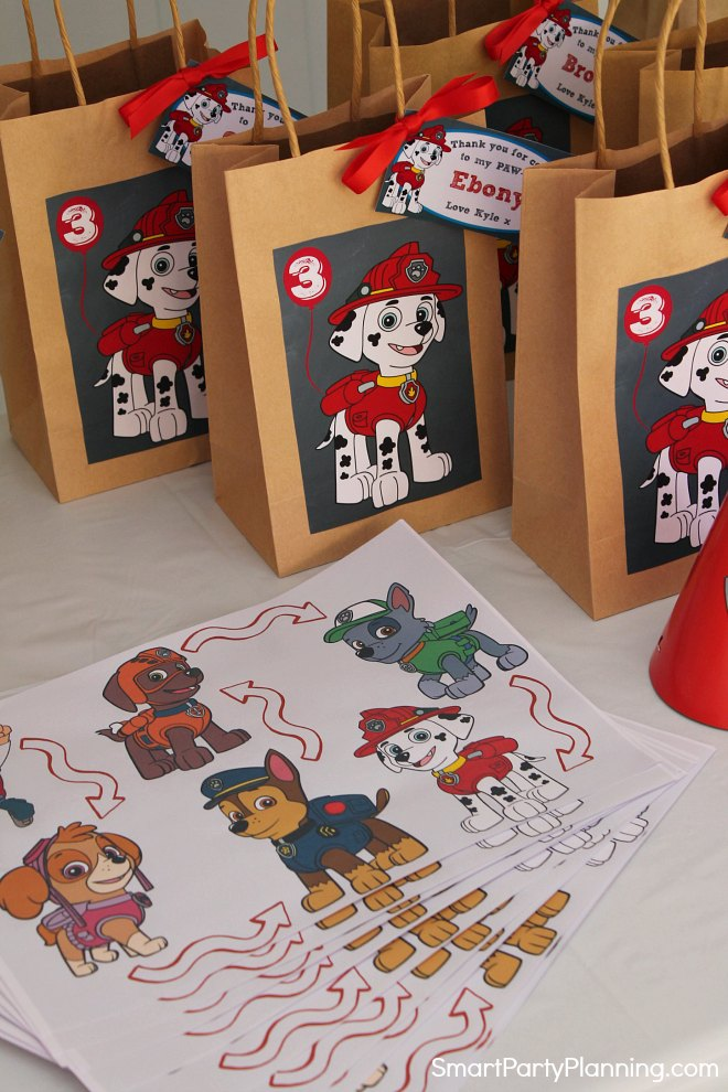 Paw Patrol Treasure Trail Map and Bags