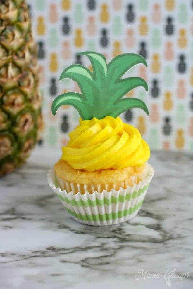 Pineapple cupcake