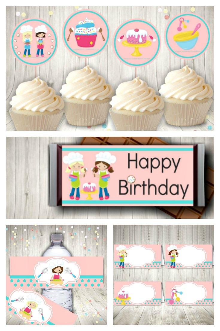 Baking Party Printable Set