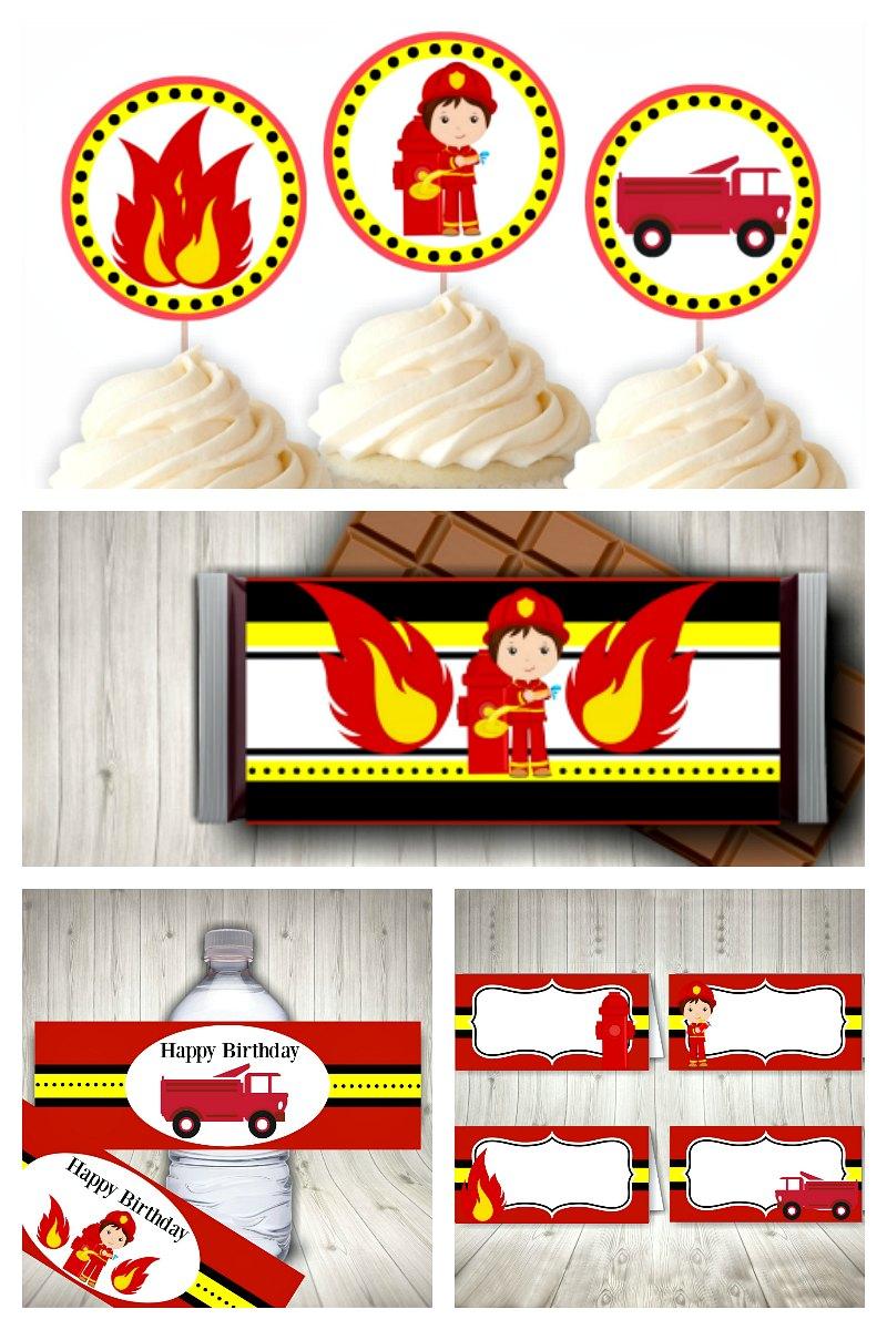 Fireman Party Printable Set
