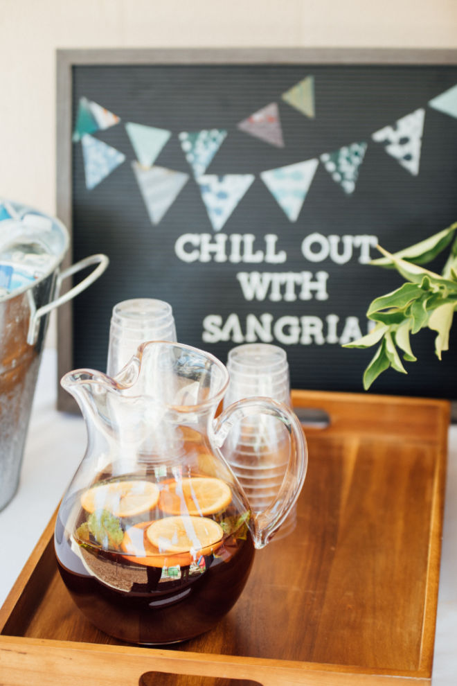 chill out with sangria