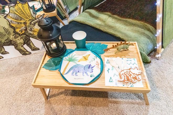 Kids morning table set up